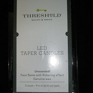 Threshold led taper faux candles